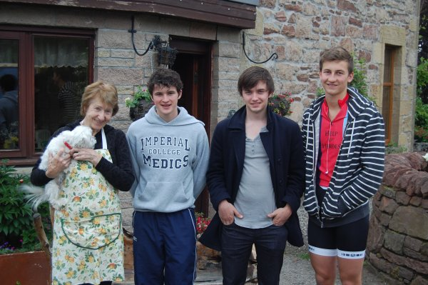Carol Munro and the boys at Ben Reay