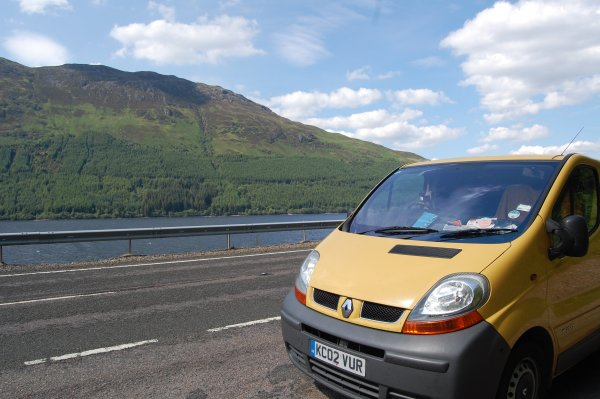 Van still by Loch Lochy