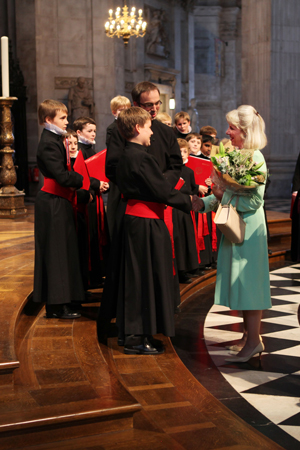 HRH The Duchess meets the Choristers