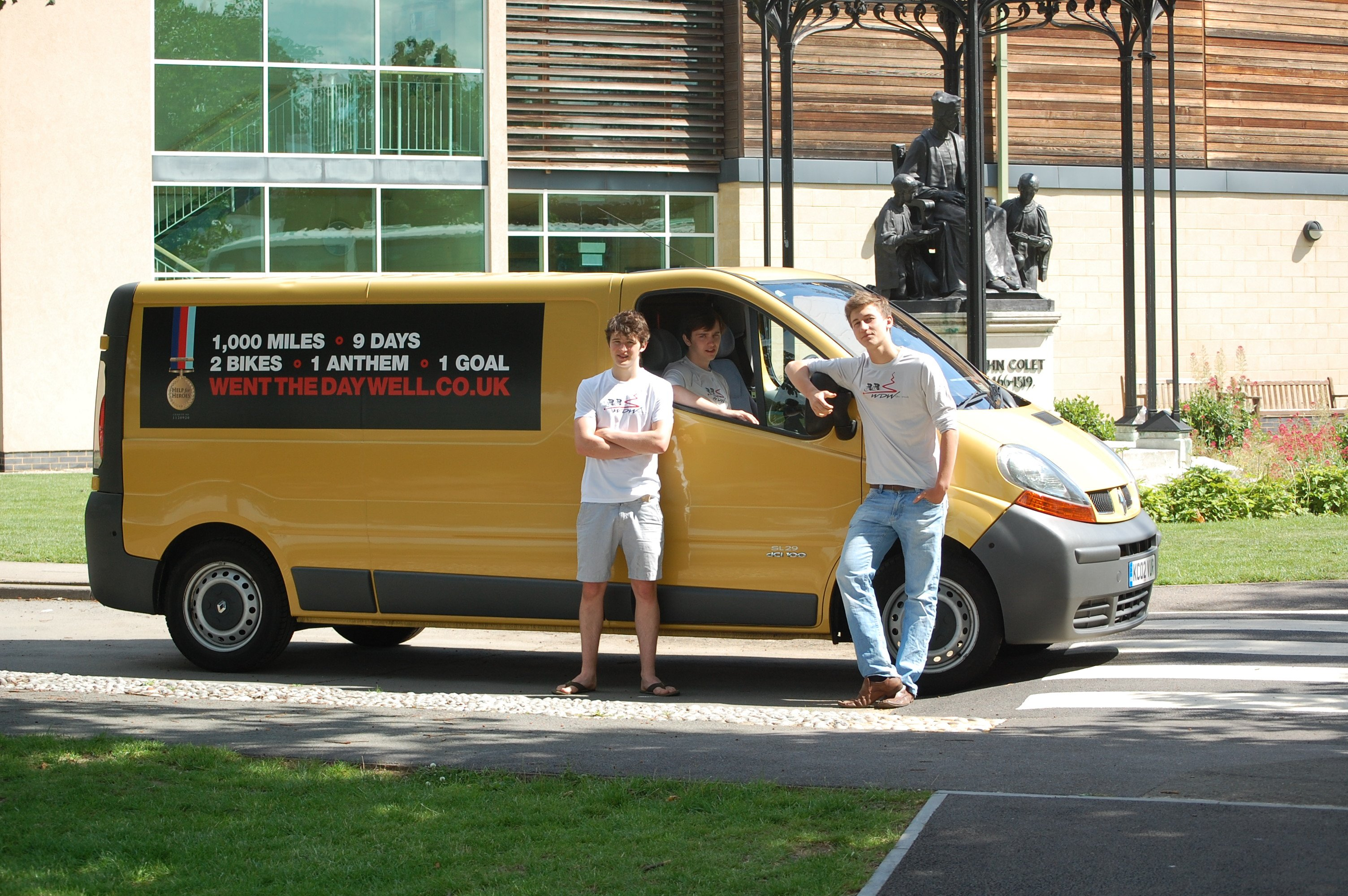 Us and the yellow van